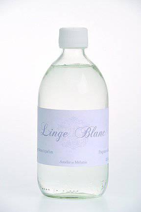 Amélie et Mélanie - Linge Blanc - Náplň do difuzéru 500 ml Lothantique