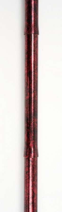 NRS Skládací barevná vycházková hůl Red Crackle