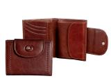 Dámská kožená peněženka s klopnou