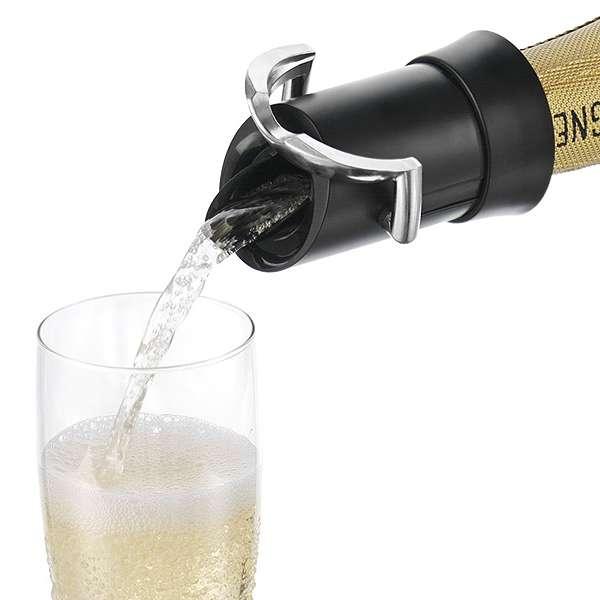 VacuVin Nálevka a uzávěr na šampaňské