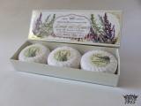 Lavender & Rosemary - 100% přírodní plisovaná mýdla 3 x 100 g
