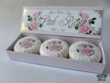 Pink Rose - 100% přírodní plisovaná mýdla 3 x 100 g