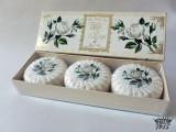 White Rose - 100% přírodní plisovaná mýdla 3 x 100 g
