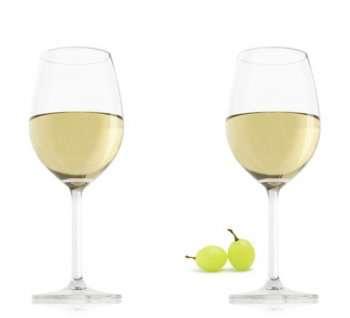 VacuVin Sklenice na bílé víno, set 2 ks