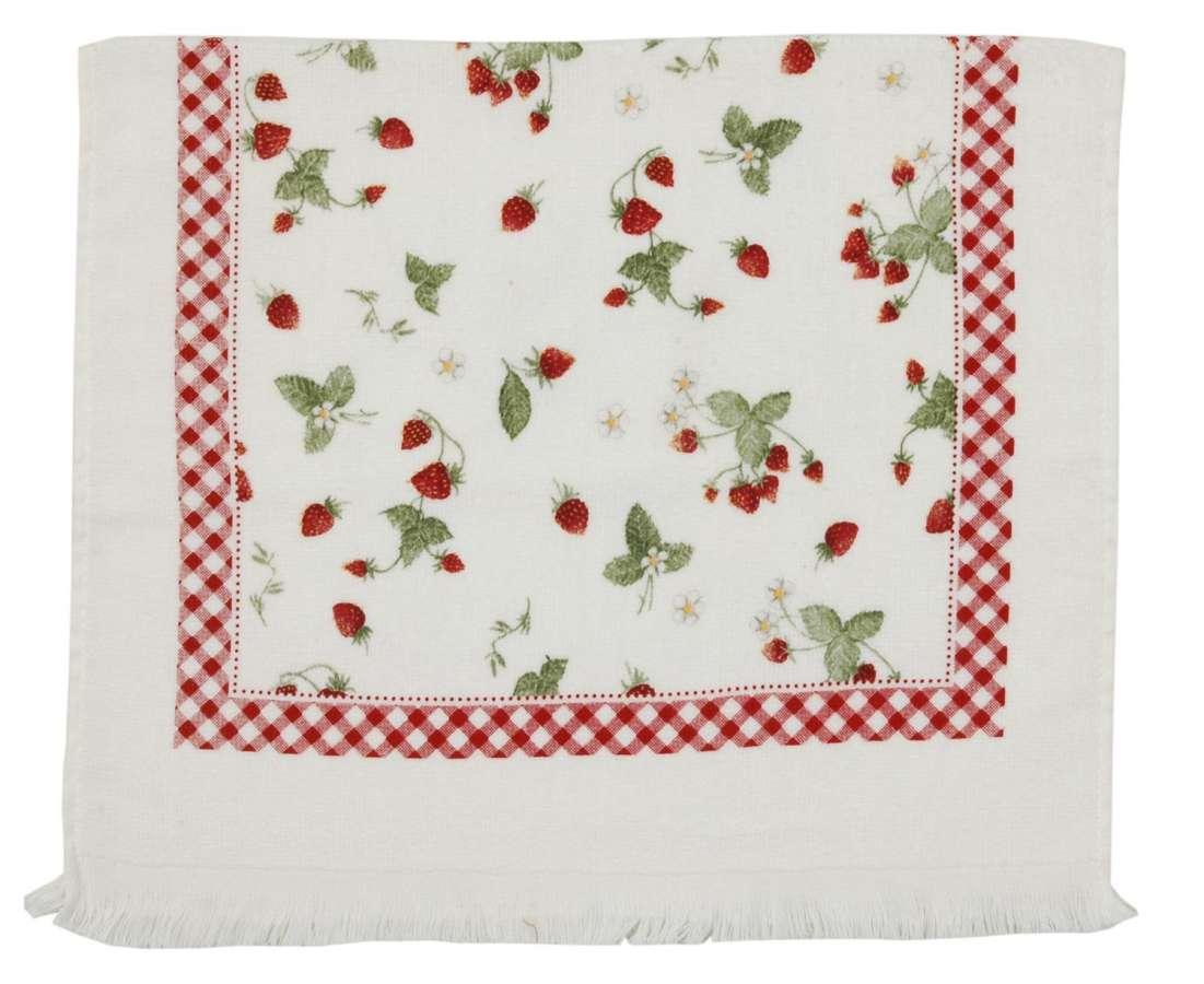 Clayre & Eef Kuchyňský ručník STRAWBERRY GARDEN 40 x 60 cm