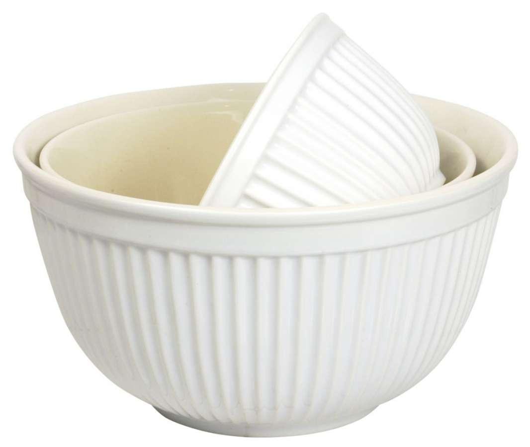 IB LAURSEN Keramická mísa Mynte Pure white