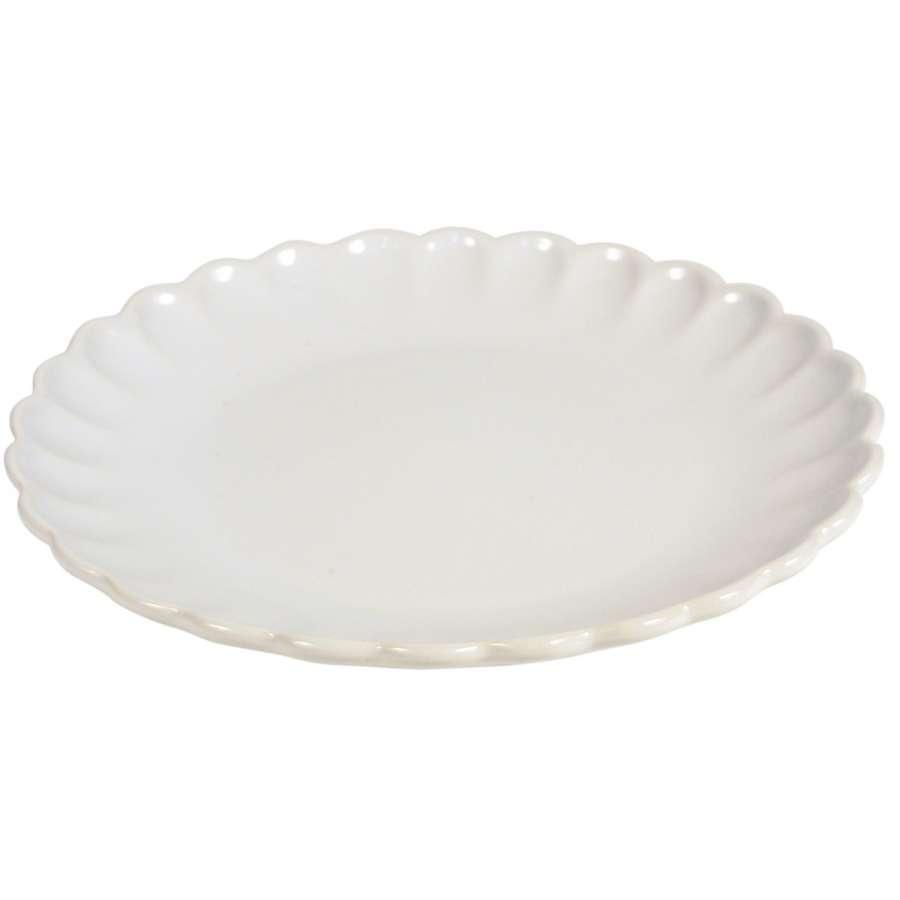 IB LAURSEN Keramický talíř Mynte Pure white 19,5 cm