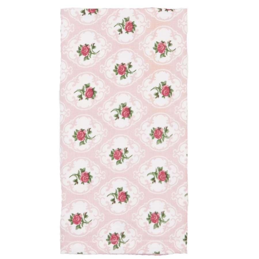 Clayre & Eef Látkové ubrousky Lovely Rose 40 x 40 cm sada 6 kusů