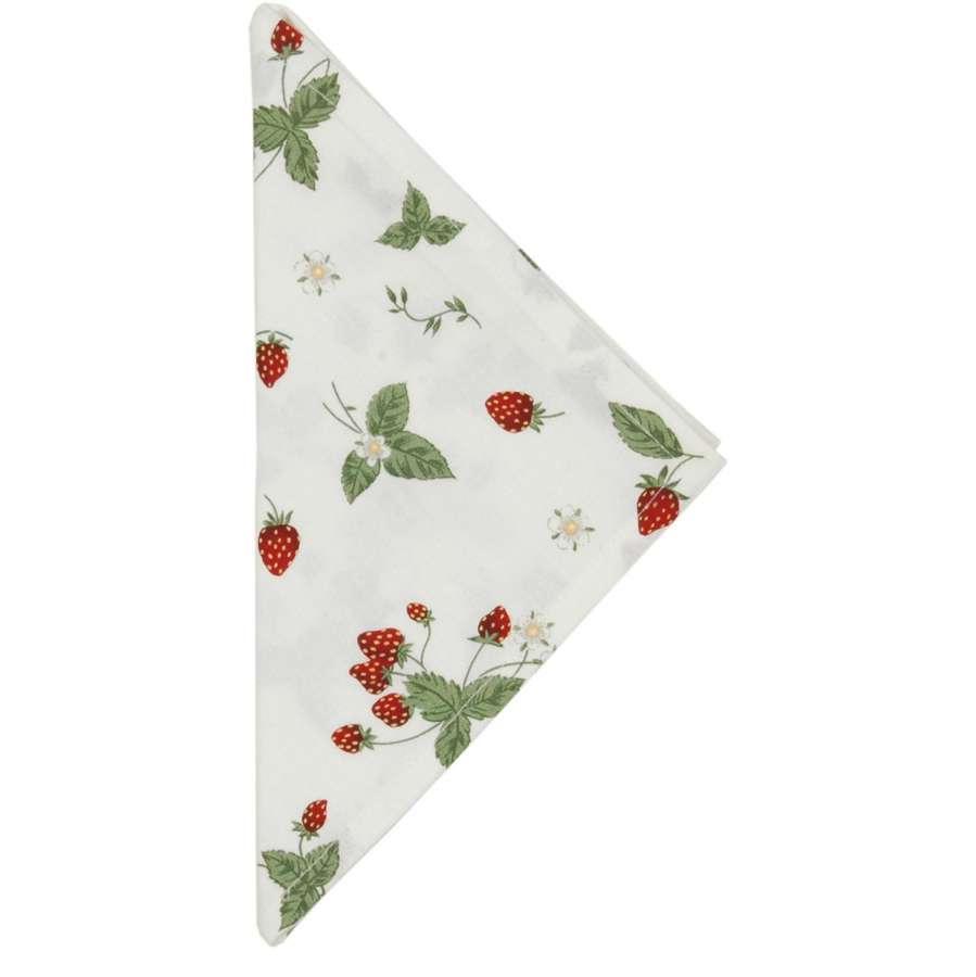 Clayre & Eef Látkové ubrousky Strawberry Garden 40 x 40 cm - sada 6 kusů