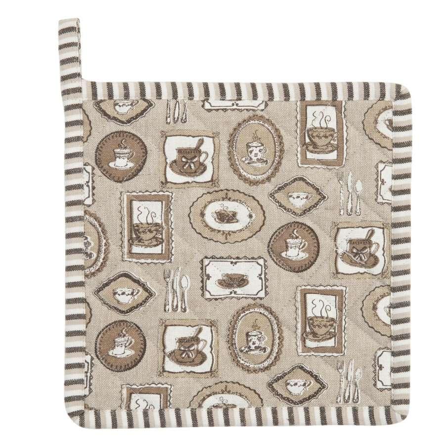 Clayre & Eef Podložka pod hrnec Coffee Time 20 x 20 cm