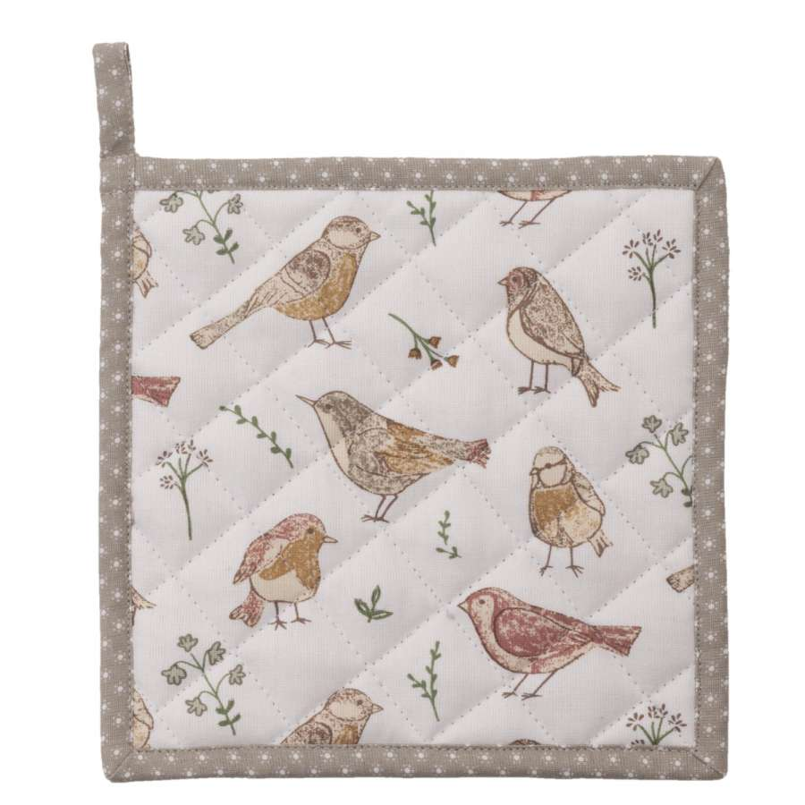 Clayre & Eef Podložka pod hrnec Singing Birds 20 x 20 cm