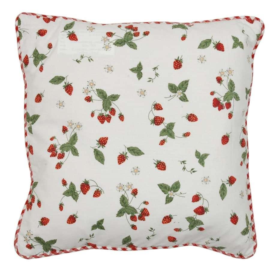 Clayre & Eef Povlak na polštář Strawberry Garden 40 x 40 cm
