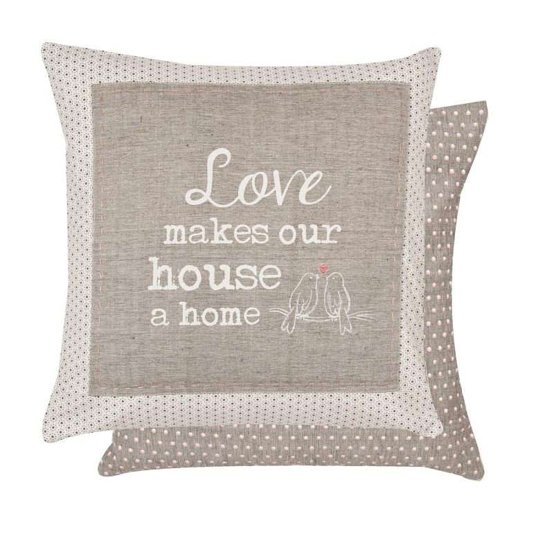 Clayre & Eef Povlak na polštář My Lovely Home 40 x 40 cm