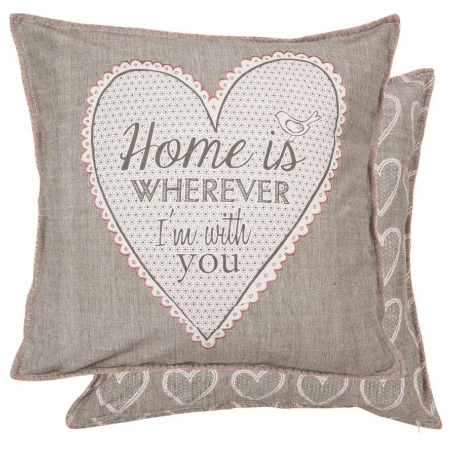 Clayre & Eef Povlak na polštář My Lovely Home 50 x 50 cm