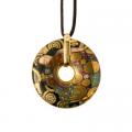 Náhrdelník 4,5 cm, porcelán, Die Erfüllung - Plnění, G. Klimt