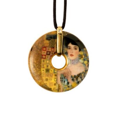 Goebel Náhrdelník 5 cm, porcelán, Adele Bloch-Bauer, G. Klimt