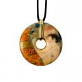 Náhrdelník 5 cm, porcelán, Tři období života ženy, G. Klimt