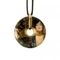 Náhrdelník 5 cm, porcelán, Judith I, G. Klimt
