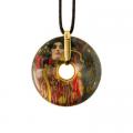 Náhrdelník 5 cm, porcelán, Medicine, G. Klimt