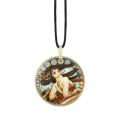 Náhrdelník Tanec 5,5 cm, porcelán, A. Mucha