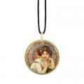Náhrdelník Topaz 5,5 cm, porcelán, A. Mucha