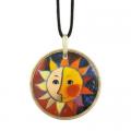 Náhrdelník Sole 5,5 cm, porcelán