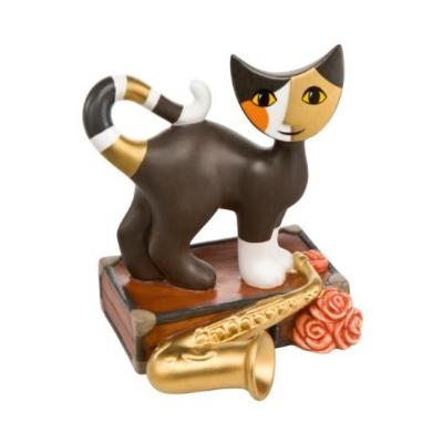 Rosina Wachtmeister Porcelánová kočka Addo con sassofono 9 cm Goebel