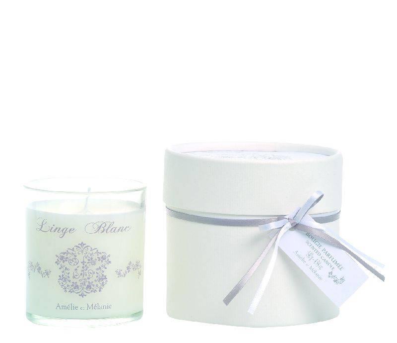 Amélie et Mélanie - Linge Blanc - Dárková vonná svíčka z Provence Lothantique