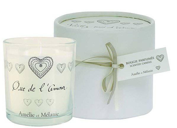 Amélie et Mélanie - Que de ľ Amour - Dárková vonná svíčka z Provence Lothantique