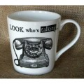 Porcelánový hrnek Telephone