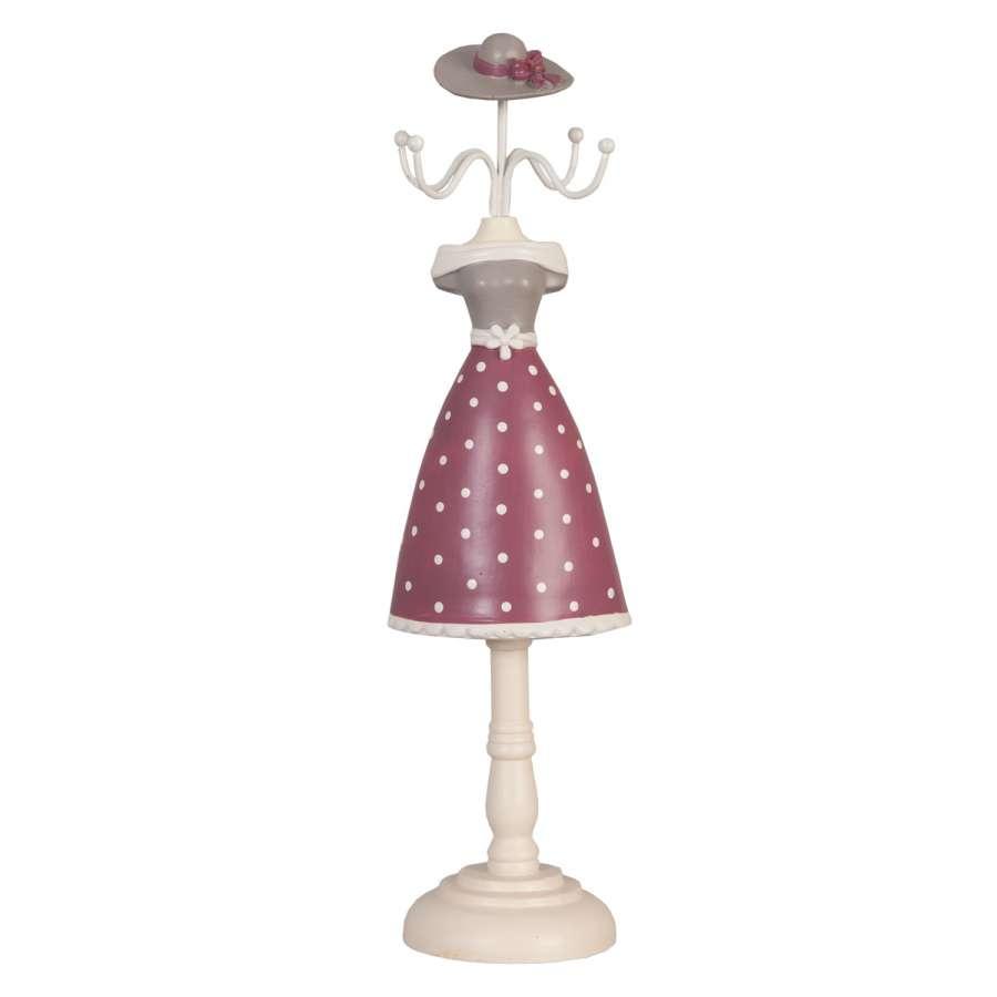 Clayre & Eef Jewellery holder ,stojánek na šperky pink