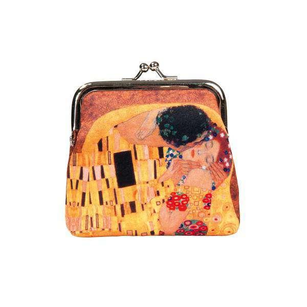Fridolin Klimt Polibek peněženka s rámem