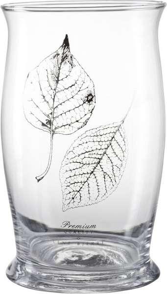 Lene Bjerre Skleněná váza s motivem lístků