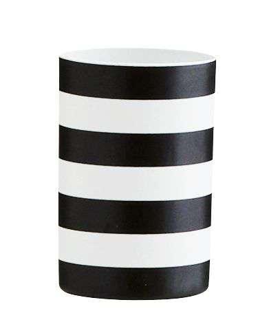 Madam Stoltz Porcelánový svícen Black stripes