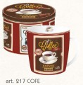 Porcelánový hrnek 300ml s dekorem Kávy v plech. boxu - VINTAGE COFFEE
