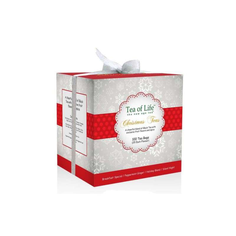 Tea of Life Dárkové balení čajů Holiday box Red Christmas Tea 200g