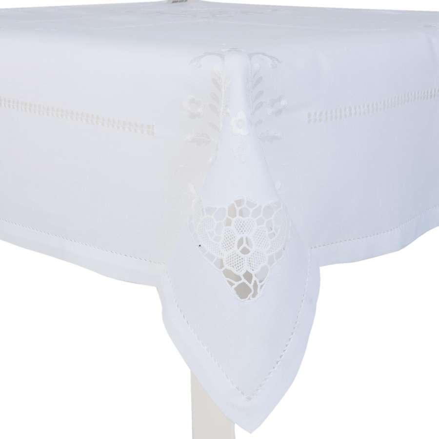 Ubrus bílý středový W 85 x 85 cm Clayre & Eef
