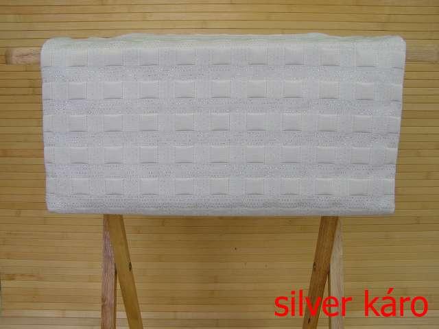 Ubrus středový Silver káro 140 x 40 cm
