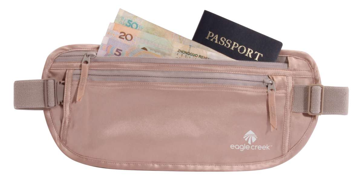 Eagle Creek ledvinka Silk Undercover Money Belt rose