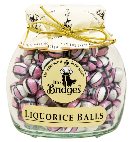 Mrs. Bridges Cucavé bonbony Lékořicové kuličky, 155g