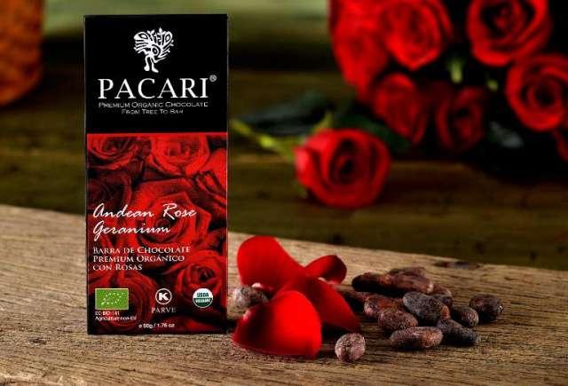 Pacari BIO hořká čokoláda s andskou růží Geranium 50g