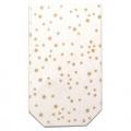 Celofánový sáček čirý s potiskem zlatých hvězdiček 18 x 30 cm