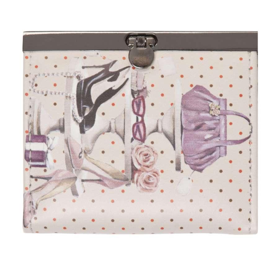 Clayre & Eef Peněženka malá lila, 11,5 x 10 cm