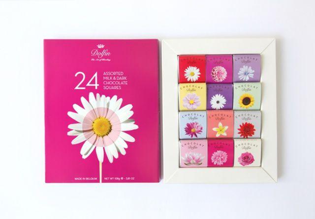 Dolfin dárkový box flowers 108g, 24 ks