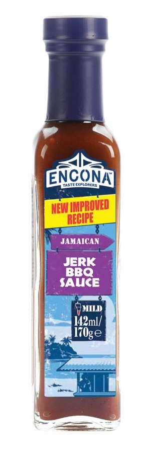 Encona Jerk BBQ jemná jamajská omáčka 142ml