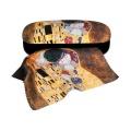 Pouzdro na brýle s utěrkou Klimt - Polibek