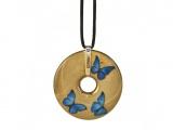 Náhrdelník Blue Butterflies 5 cm, porcelán Joanna Charlotte