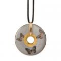 Náhrdelník Grey Butterflies 5 cm, porcelán Joanna Charlotte