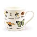 Hrnek porcelánový s hmyzem