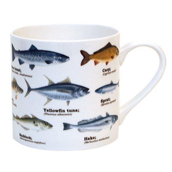 Porcelánový hrnek s rybami 0,45 l